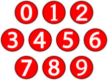 Numbers set Stock Photo