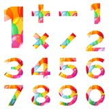 Numbers set, colorful balloons Royalty Free Stock Photos