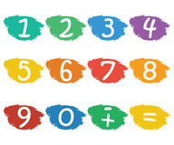 Numbers set Stock Photos