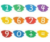 Numbers set Stock Photos