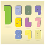 Numbers set Royalty Free Stock Images