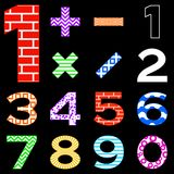 Numbers set different Stock Image