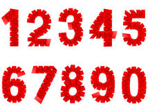 Numbers set folded paper sign Royalty Free Stock Photo