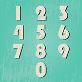 Numbers set with grunge Stock Photography