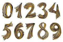 Numbers set in hand drawn Royalty Free Stock Images