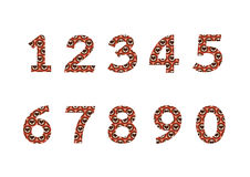 Numbers set in illustration , abstract number Stock Images