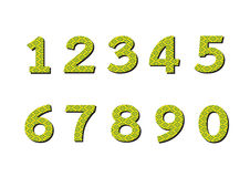 Numbers set in illustration , abstract number Stock Image