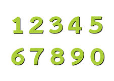 Numbers set in illustration , abstract number Royalty Free Stock Photos