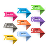 Numbers set infographics elements Royalty Free Stock Photos
