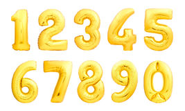 Numbers set made of inflatable balloons royalty free stock photography