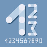 Numbers set modern style. Icons. Vector illustration. Royalty Free Stock Image
