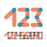 Numbers set modern style. Icons. Vector stock illustration
