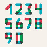 Numbers set modern style. Icons. Vector Royalty Free Stock Photo