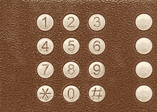 Numbers set. Number buttons on the dialer royalty free stock images