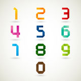Numbers set origami style Royalty Free Stock Photos