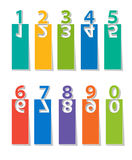 Numbers set.paper cut Royalty Free Stock Image