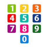 Numbers set.paper cut Royalty Free Stock Photos