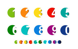 Numbers set.paper cut Royalty Free Stock Images