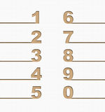 Numbers set, Recycle concept Royalty Free Stock Image