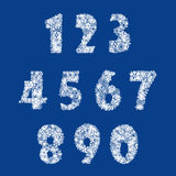 Numbers set. Vector. Numbers set. Snow finger . Christmas decor Royalty Free Stock Images