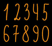 Numbers set, vector Royalty Free Stock Photo
