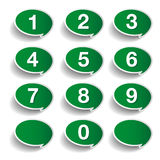 Numbers set. Vector design. Isolated Royalty Free Stock Photos