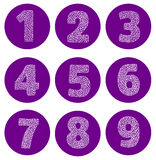Numbers set. Vector. Vector numbers set. Vector design template elements. Set abstract numeric font numbers for abstract art Stock Photography