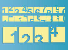 Numbers set. Vector eps 10 Royalty Free Stock Photos