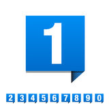 Numbers set. Vector illustration. Royalty Free Stock Images