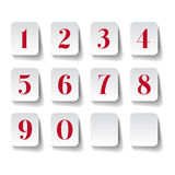 Numbers set. Vector illustration. Royalty Free Stock Photos