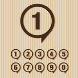 Numbers set. Vector illustration. Stock Image