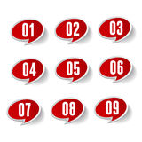 Numbers set. Vector. Label set isolated Royalty Free Stock Photo