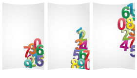 Numbers sheet Royalty Free Stock Images