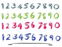 Numbers sets. Number set with  handwriting design Royalty Free Stock Photography