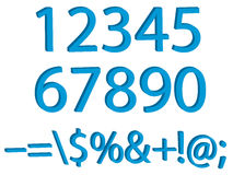 Numbers and sings  set. 3d Stock Photo