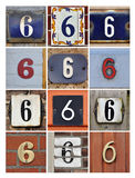 Numbers Six Royalty Free Stock Photos