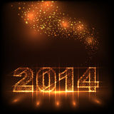 Numbers 2014 from snowflakes Stock Photo