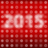 Numbers 2015 with snowflakes. Stock Image