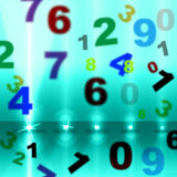 Numbers Spotlight Means Stage Lights And College Royalty Free Stock Photography