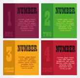 Numbers square Royalty Free Stock Images