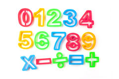 Numbers stencils Stock Image