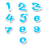 Numbers stickers Stock Images