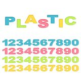 Numbers stylized colorful plastic Royalty Free Stock Photos
