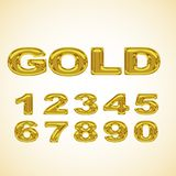 Numbers stylized gold Royalty Free Stock Images