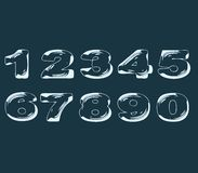 Numbers stylized liquid transparent effect Stock Photo