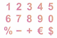 Numbers and symbols Royalty Free Stock Photography