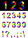 Numbers and symbols. Royalty Free Stock Photography