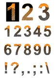 Numbers and symbols. Royalty Free Stock Photo