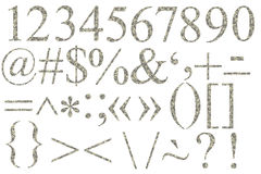 Numbers and symbols of dollars. On a white background Stock Image