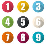Numbers symbols Stock Images
